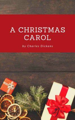 The cover of the book A Christmas Carol by Charles Dickens. This picture also points to a copy of the book in PDF, EPUB, AZW3 and MOBI formats available to download for free on Snewd.com.