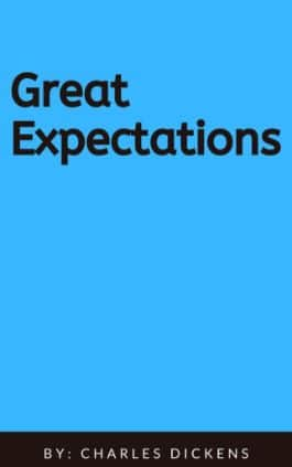 The cover of the book Great Expectations by Charles Dickens. This picture also points to a copy of the book in PDF, EPUB, AZW3 and MOBI formats available to download for free on Snewd.com.
