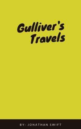 Gulliver's Travels by Jonathan Swift. This picture also points to a copy of the book in PDF, EPUB, AZW3 and MOBI formats available to download for free on Snewd.com.