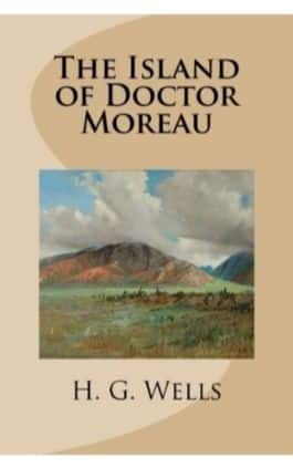 This is the cover of the book The Island of Doctor Moreau by H.G Wells. This picture also points to a copy of the book in PDF, EPUB, AZW3 and MOBI formats available to download for free on Snewd.com.
