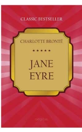 This is the cover of the book Jane Eyre by Charlotte Bronte. This picture also points to a copy of the book in PDF, EPUB, AZW3 and MOBI formats available to download for free on Snewd.com.