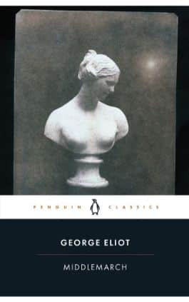 This is the cover of the book Middlemarch by George Eliot. This picture also points to a copy of the book in PDF, EPUB, AZW3 and MOBI formats available to download for free on Snewd.com.