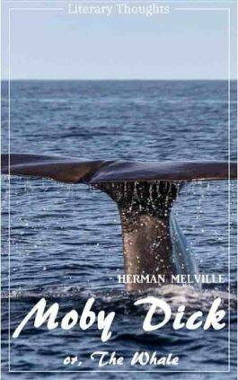 This is the cover of the book Moby Dick by Herman Melville. This picture also points to a copy of the book in PDF, EPUB, AZW3 and MOBI formats available to download for free on Snewd.com.