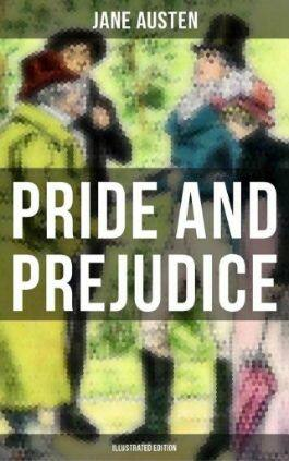 The cover of the book Pride and Prejudice by Jane Austen. This picture also points to a copy of the book in PDF, EPUB, AZW3 and MOBI formats available to download for free on Snewd.com.