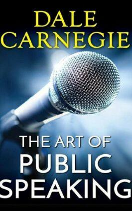 The cover of the book The Art of Public Speaking by Dale Carnegie & J. Berg Esenwein. This picture also points to a copy of the book in PDF, EPUB, AZW3 and MOBI formats available to download for free on Snewd.com.