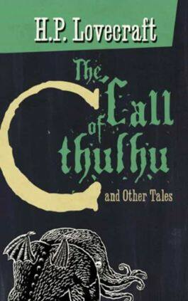The cover of the book The Call of Cthulhu by H. P. Lovecraft. This picture also points to a copy of the book in PDF, EPUB, AZW3 and MOBI formats available to download for free on Snewd.com.
