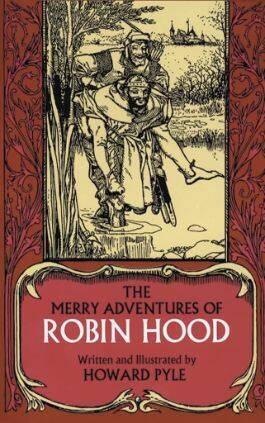 This is the cover of the book The Merry Adventures of Robin Hood by Howard Pyle. This picture also points to a copy of the book in PDF, EPUB, AZW3 and MOBI formats available to download for free on Snewd.com.
