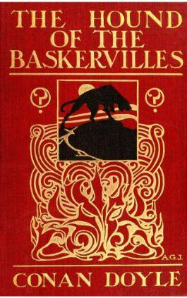 This is the cover of the book The Hound of the Baskervilles. This picture also points to a copy of the book in PDF, EPUB, AZW3 and MOBI formats available to download for free on Snewd.com.
